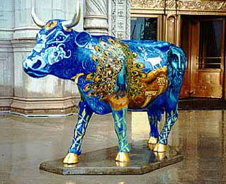 The Wrigley Celestial Guard Cow at The Wrigley Building in Chicago
